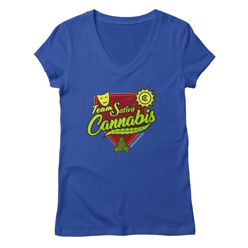 Team Sativa Women's Regular V-Neck by The Medical Cannabis Community