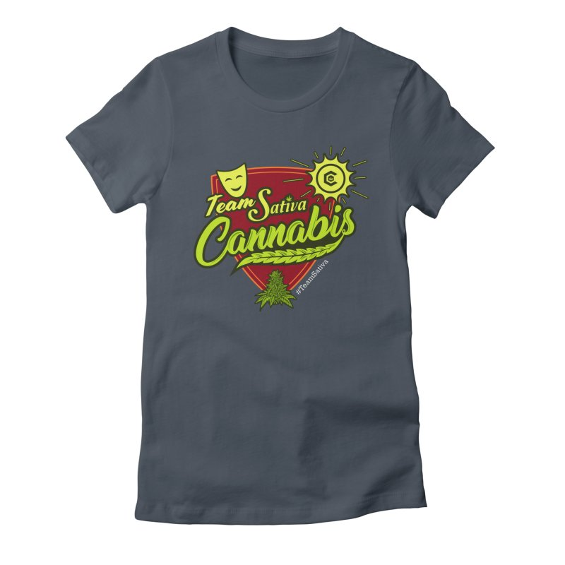 Team Sativa Women's Fitted T-Shirt by The Medical Cannabis Community