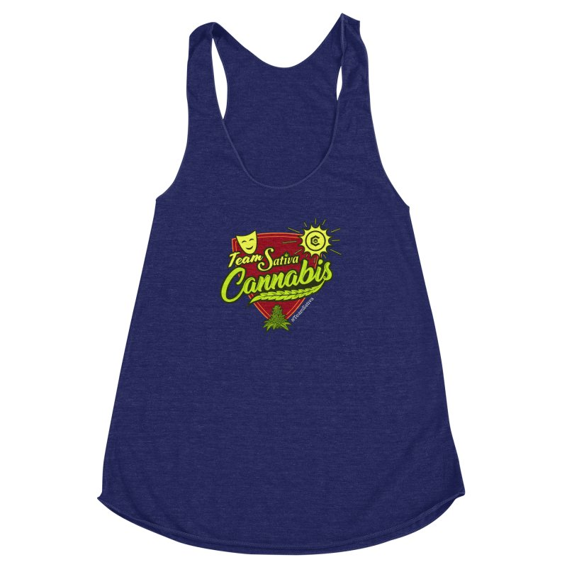 Team Sativa Women's Racerback Triblend Tank by The Medical Cannabis Community