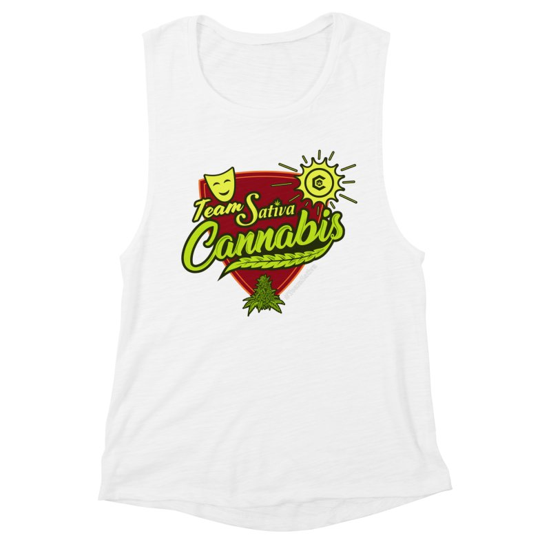 Team Sativa Women's Muscle Tank by The Medical Cannabis Community