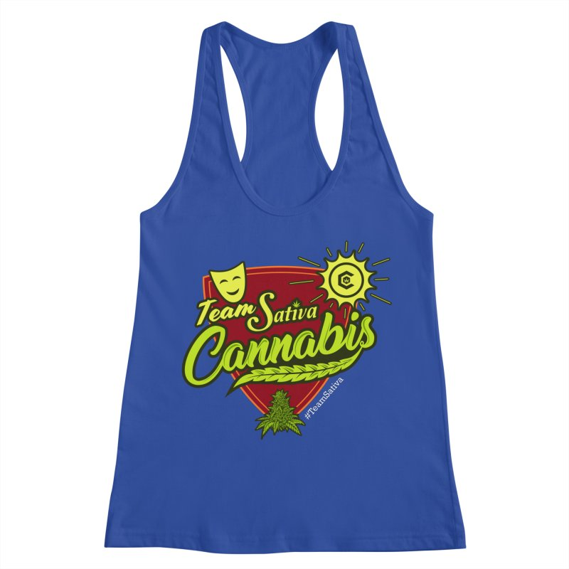 Team Sativa Women's Racerback Tank by The Medical Cannabis Community