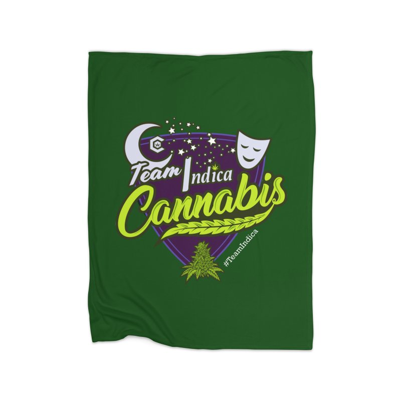 Team Indica Home Fleece Blanket Blanket by The Medical Cannabis Community