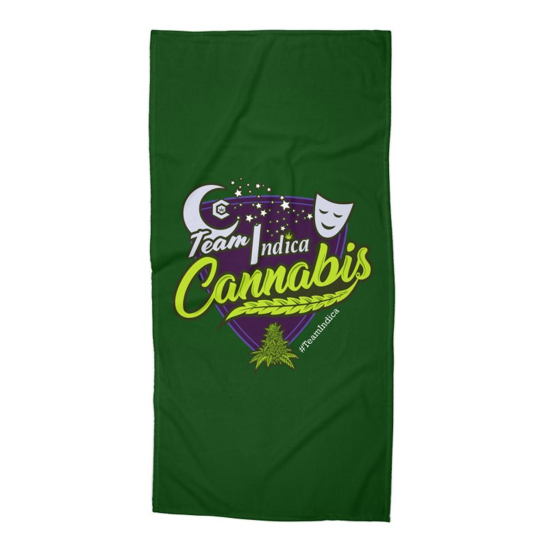 Team Indica Accessories Beach Towel by The Medical Cannabis Community