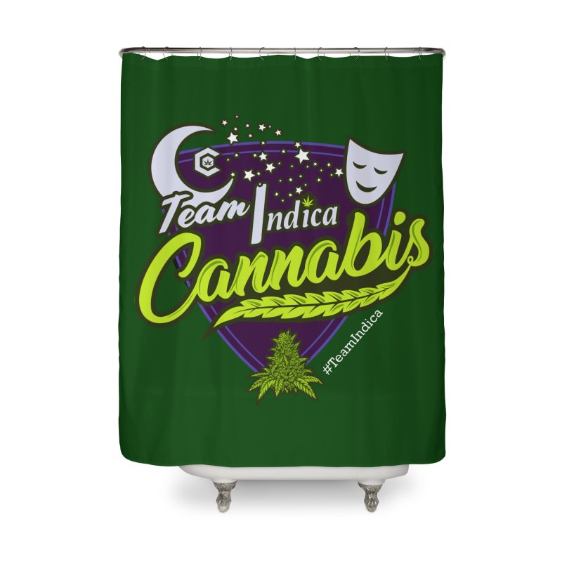 Team Indica Home Shower Curtain by The Medical Cannabis Community
