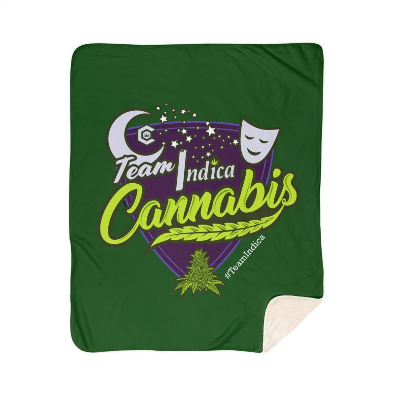Team Indica Home Sherpa Blanket Blanket by The Medical Cannabis Community
