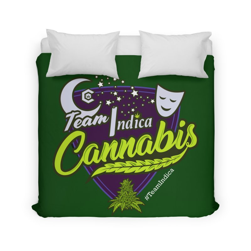 Team Indica Home Duvet by The Medical Cannabis Community