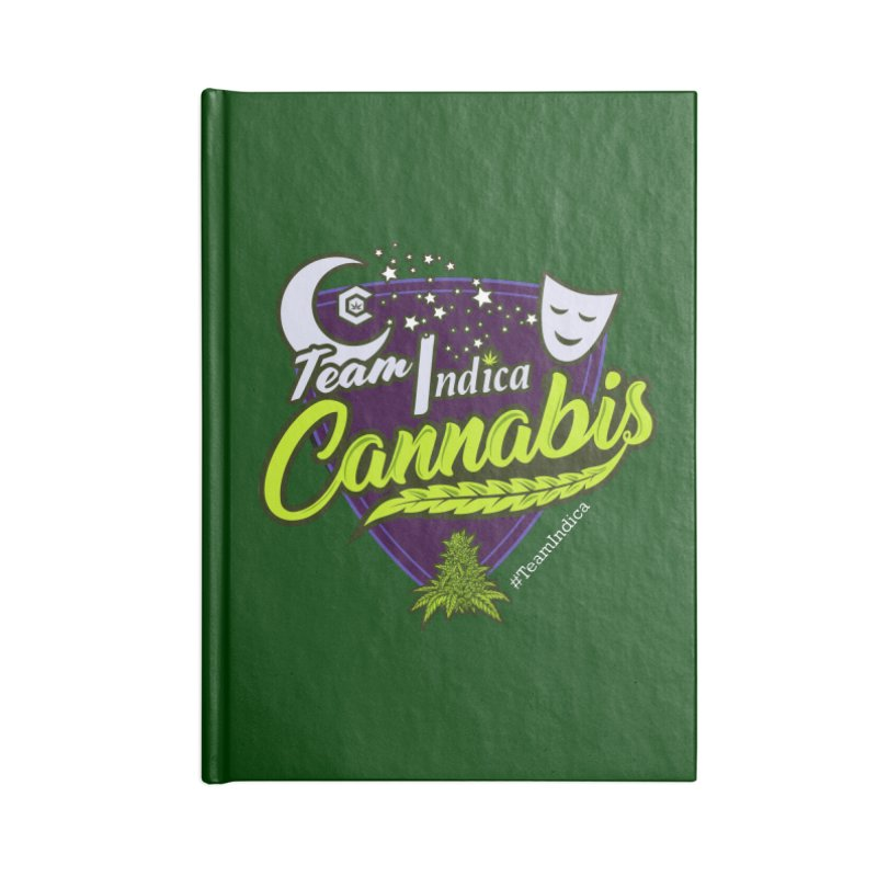 Team Indica Accessories Notebook by The Medical Cannabis Community