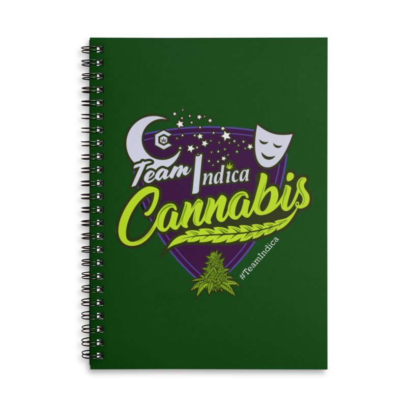 Team Indica Accessories Lined Spiral Notebook by The Medical Cannabis Community