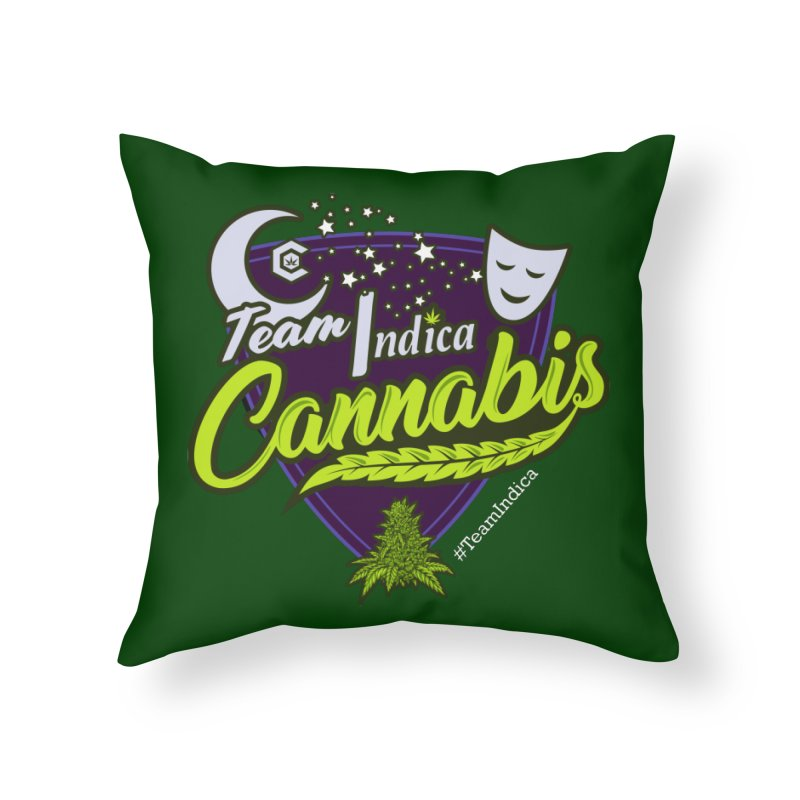 Team Indica Home Throw Pillow by The Medical Cannabis Community