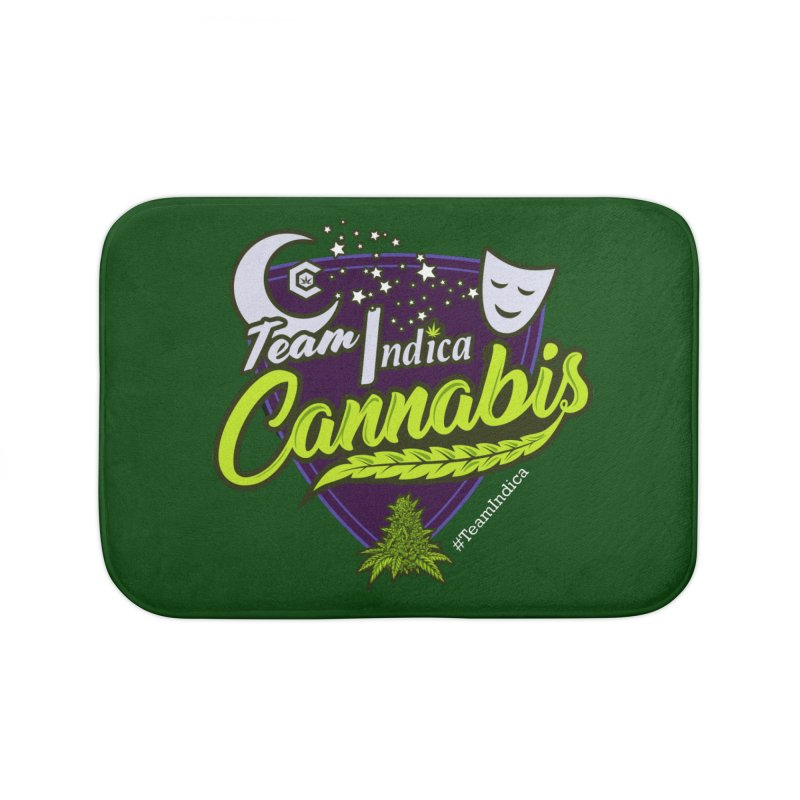 Team Indica Home Bath Mat by The Medical Cannabis Community