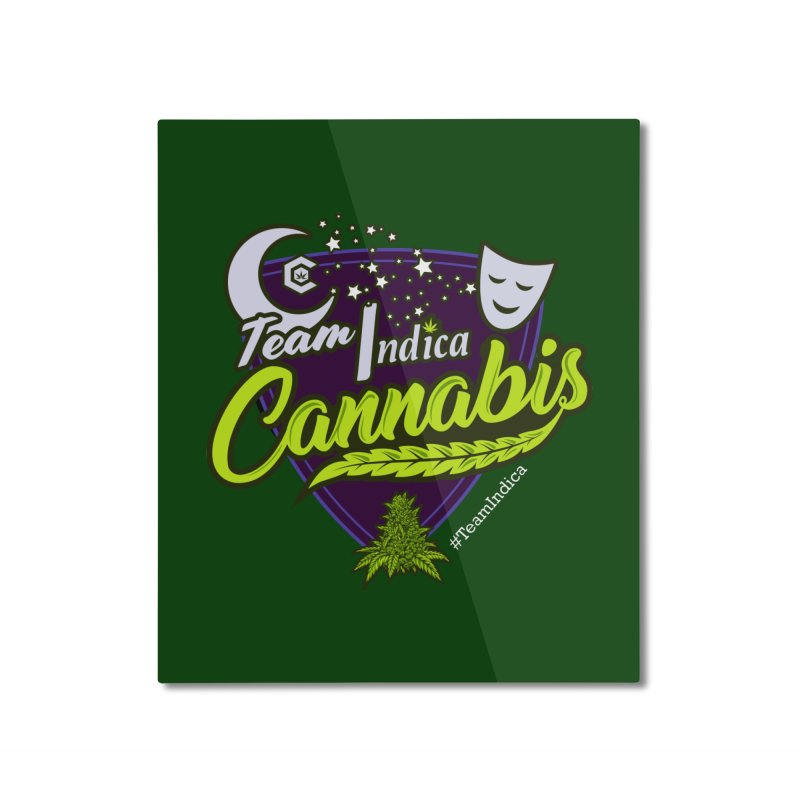 Team Indica Home Mounted Aluminum Print by The Medical Cannabis Community