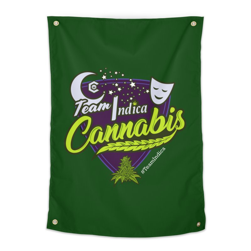 Team Indica Home Tapestry by The Medical Cannabis Community