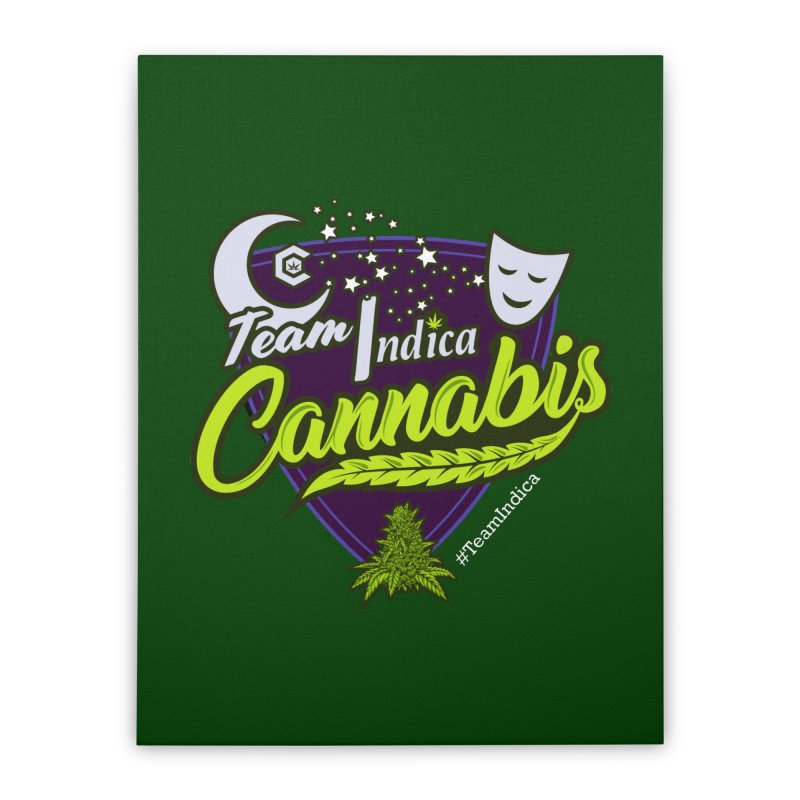 Team Indica Home Stretched Canvas by The Medical Cannabis Community