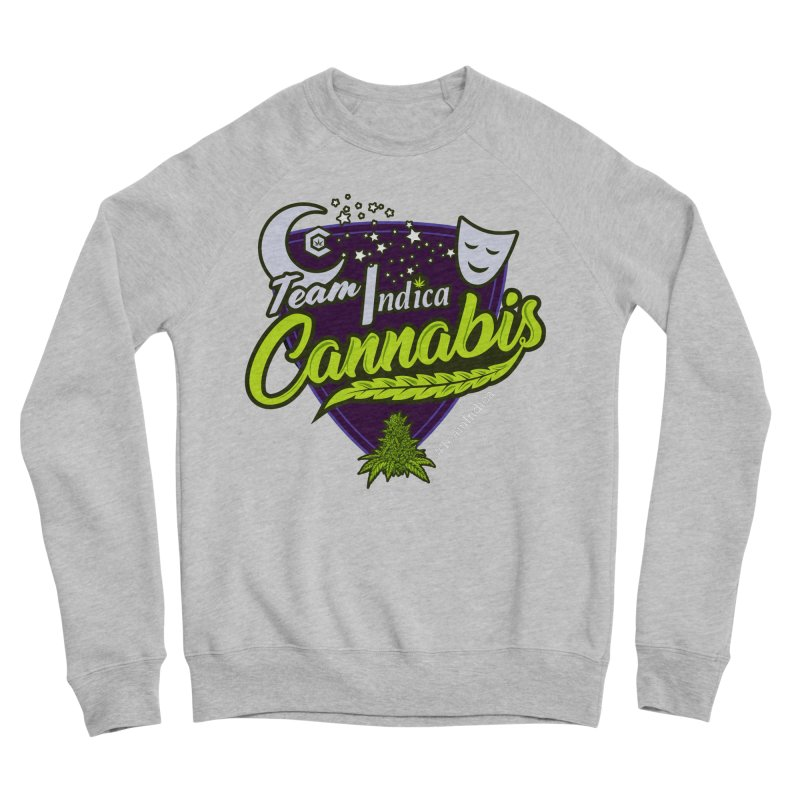 Team Indica Men's Sponge Fleece Sweatshirt by The Medical Cannabis Community