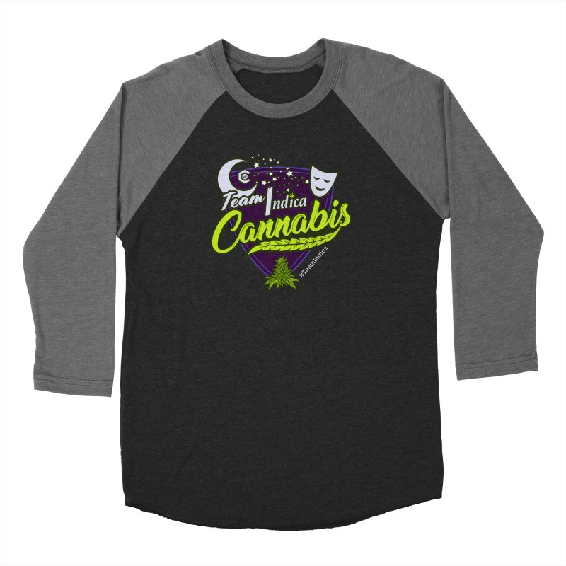 Team Indica Women's Baseball Triblend Longsleeve T-Shirt by The Medical Cannabis Community