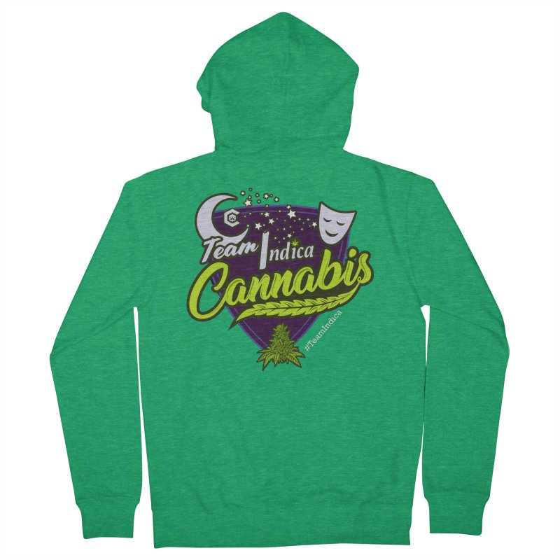 Team Indica Men's French Terry Zip-Up Hoody by The Medical Cannabis Community