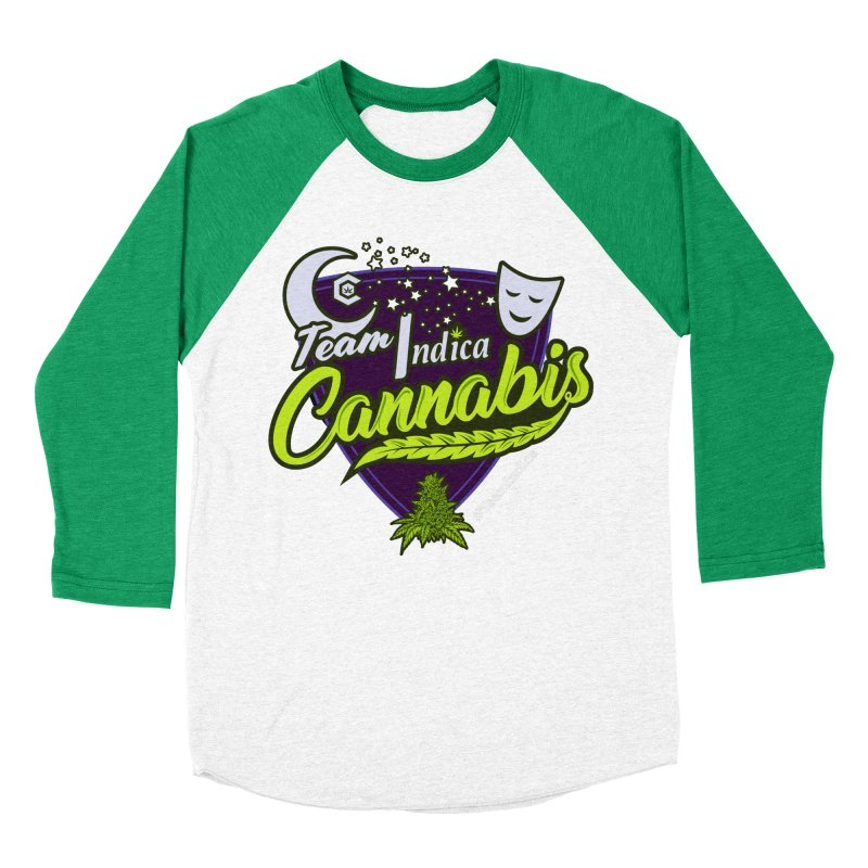 Team Indica Women's Baseball Triblend Longsleeve T-Shirt by The Medical Cannabis Community