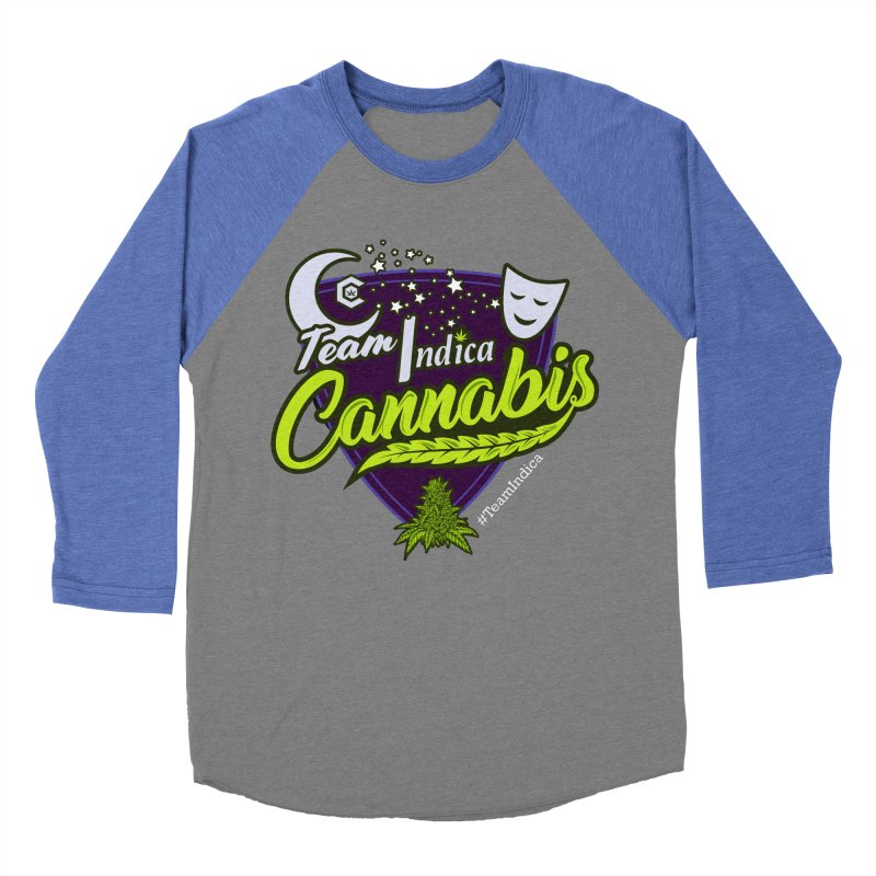 Team Indica Men's Baseball Triblend Longsleeve T-Shirt by The Medical Cannabis Community