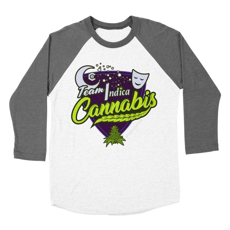 Team Indica Men's Baseball Triblend Longsleeve T-Shirt by The Medical Cannabis Community