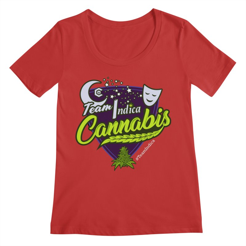 Team Indica Women's Regular Scoop Neck by The Medical Cannabis Community