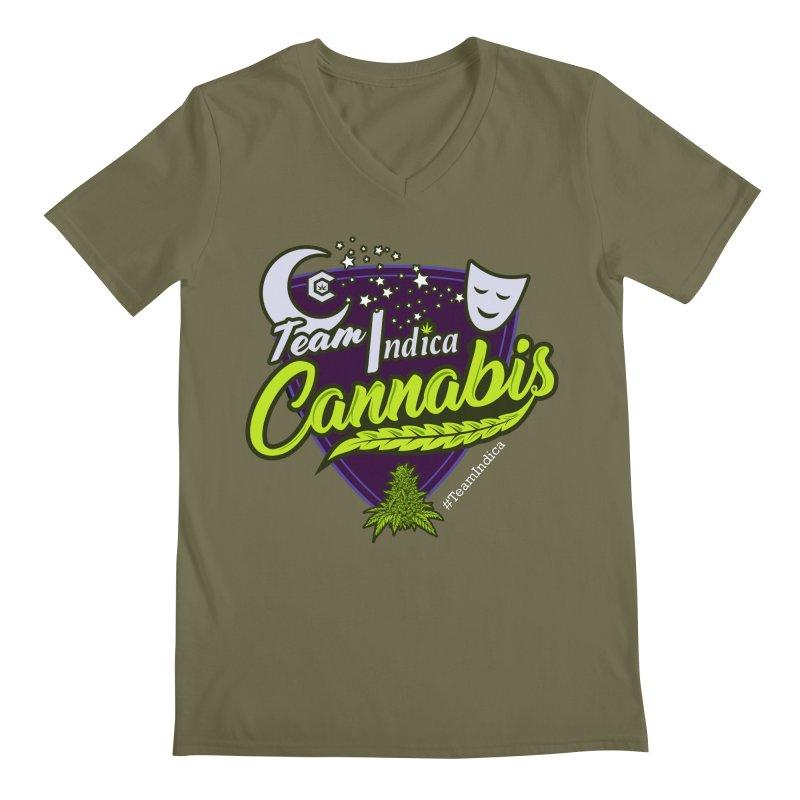 Team Indica Men's Regular V-Neck by The Medical Cannabis Community