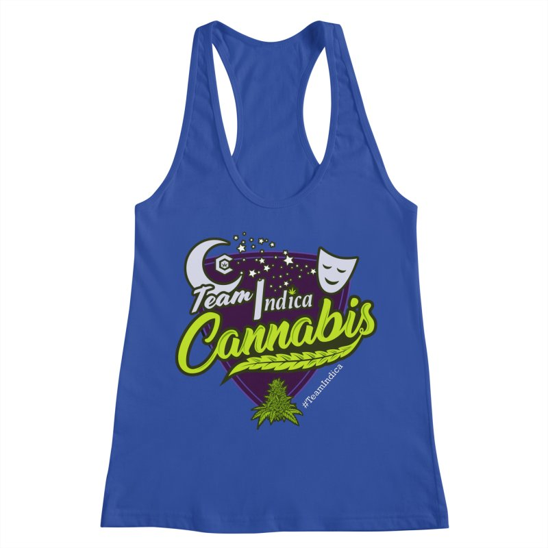 Team Indica Women's Racerback Tank by The Medical Cannabis Community