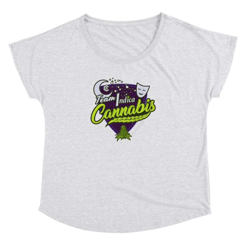 Team Indica Women's Dolman Scoop Neck by The Medical Cannabis Community
