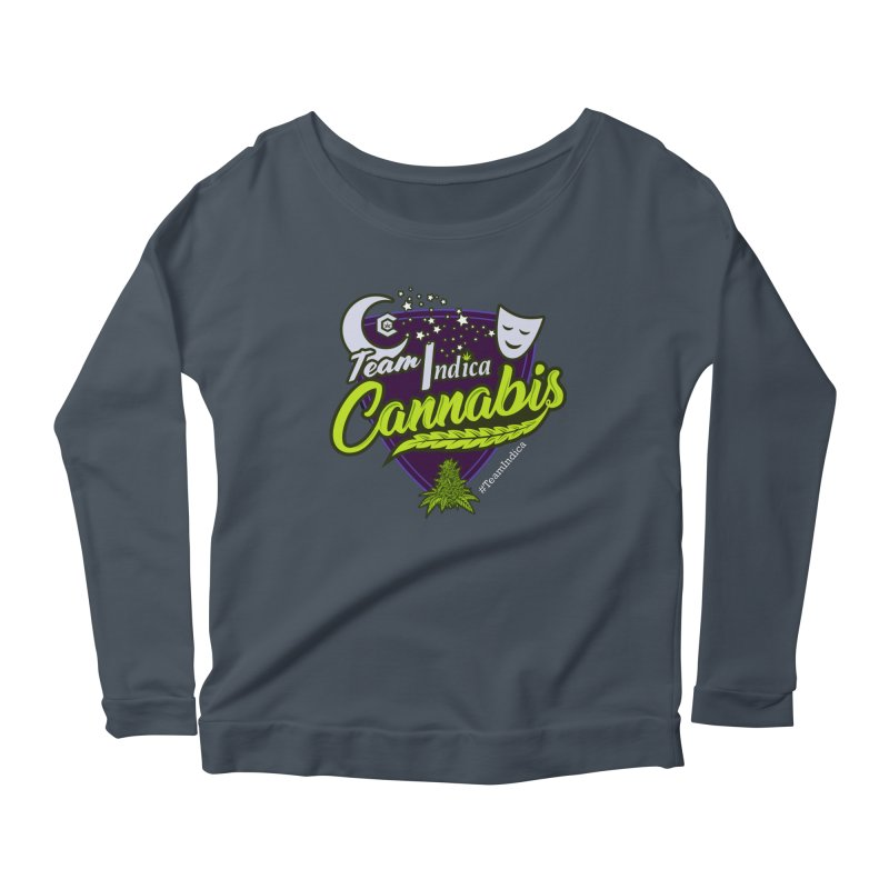 Team Indica Women's Scoop Neck Longsleeve T-Shirt by The Medical Cannabis Community