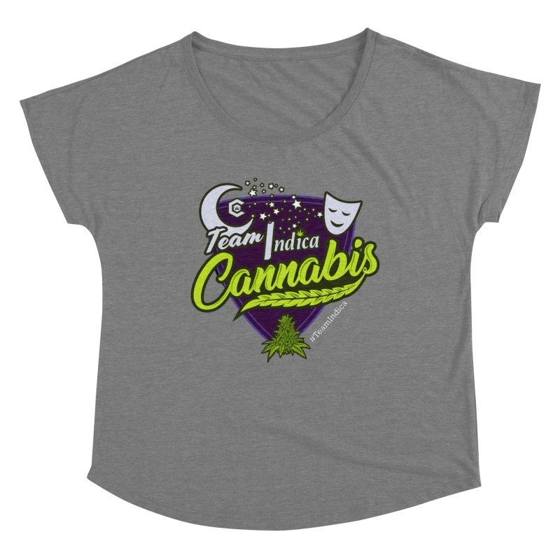 Team Indica Women's Scoop Neck by The Medical Cannabis Community
