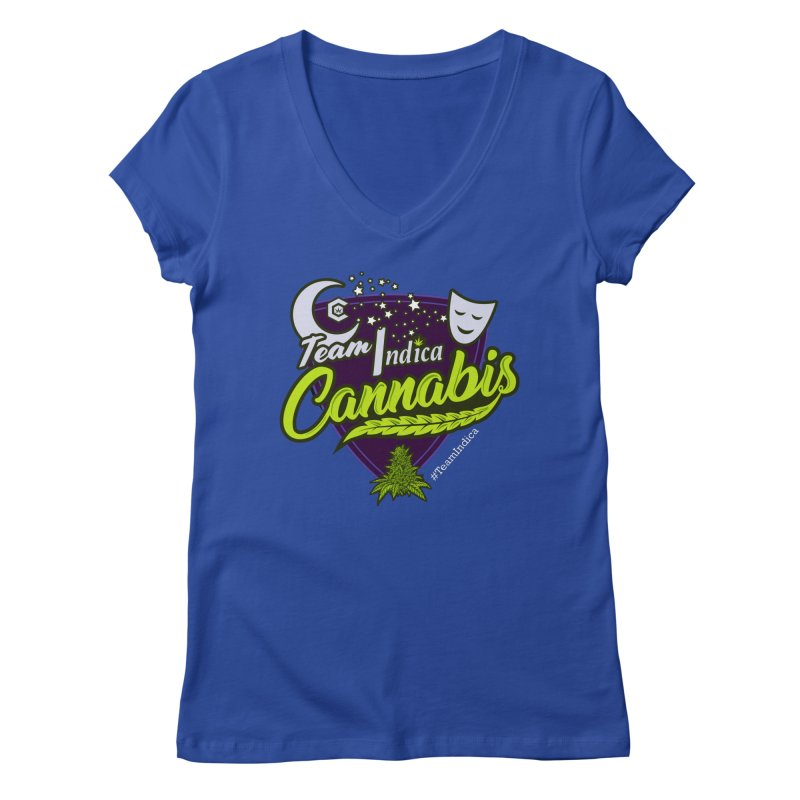Team Indica Women's Regular V-Neck by The Medical Cannabis Community
