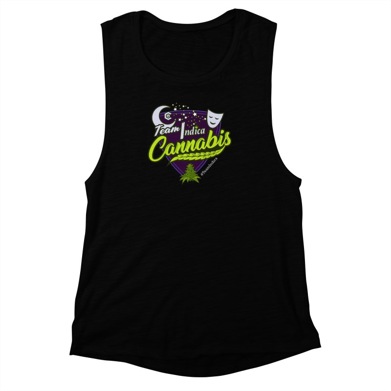 Team Indica Women's Muscle Tank by The Medical Cannabis Community