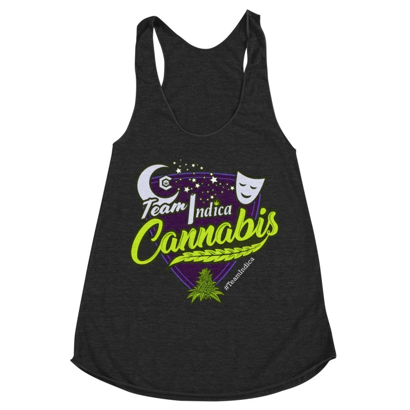Team Indica Women's Racerback Triblend Tank by The Medical Cannabis Community