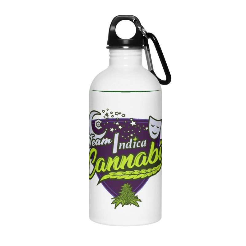 Team Indica Accessories Water Bottle by The Medical Cannabis Community