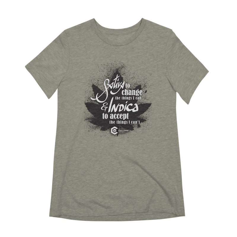 Sativa to change, Indica to accept Women's Extra Soft T-Shirt by The Medical Cannabis Community