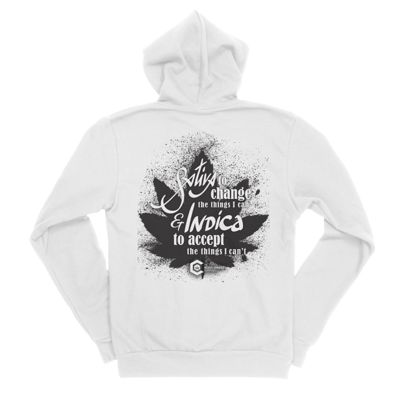 Sativa to change, Indica to accept Women's Sponge Fleece Zip-Up Hoody by The Medical Cannabis Community