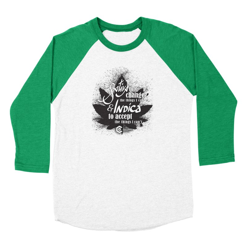 Sativa to change, Indica to accept Men's Baseball Triblend Longsleeve T-Shirt by The Medical Cannabis Community