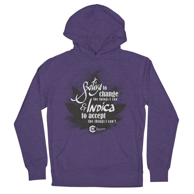 Sativa to change, Indica to accept Men's French Terry Pullover Hoody by The Medical Cannabis Community