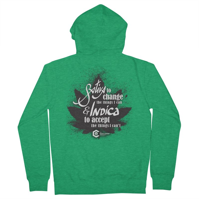 Sativa to change, Indica to accept Men's Zip-Up Hoody by The Medical Cannabis Community