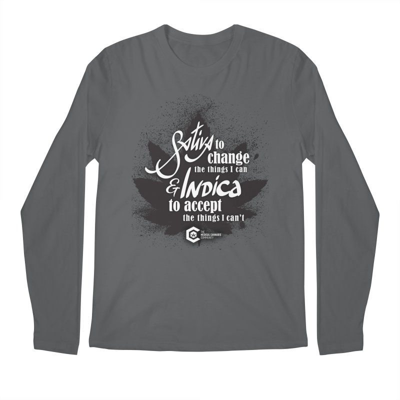 Sativa to change, Indica to accept Men's Regular Longsleeve T-Shirt by The Medical Cannabis Community