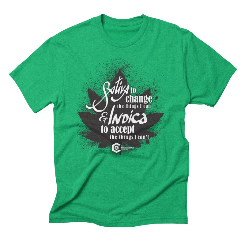 Sativa to change, Indica to accept Men's Triblend T-Shirt by The Medical Cannabis Community