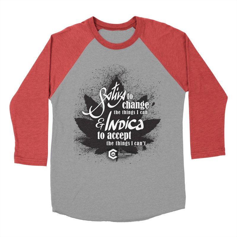 Sativa to change, Indica to accept Women's Baseball Triblend Longsleeve T-Shirt by The Medical Cannabis Community
