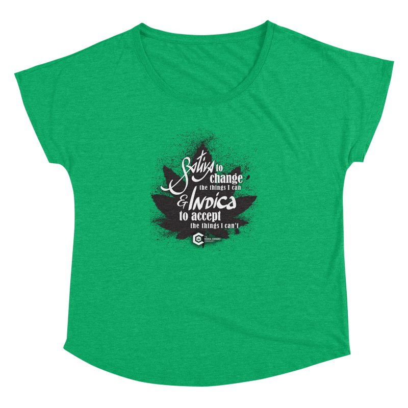 Sativa to change, Indica to accept Women's Dolman Scoop Neck by The Medical Cannabis Community