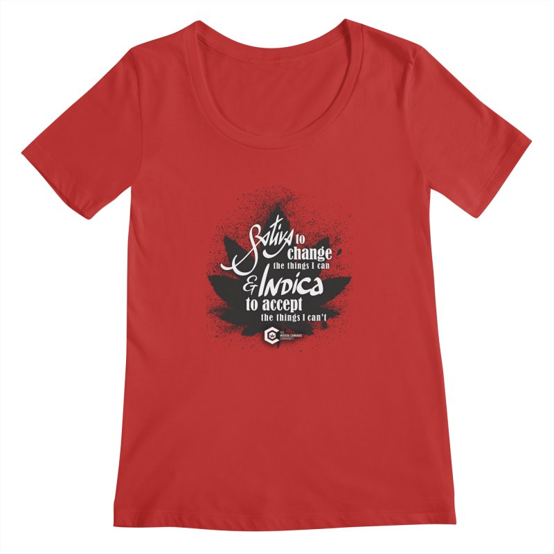 Sativa to change, Indica to accept Women's Regular Scoop Neck by The Medical Cannabis Community