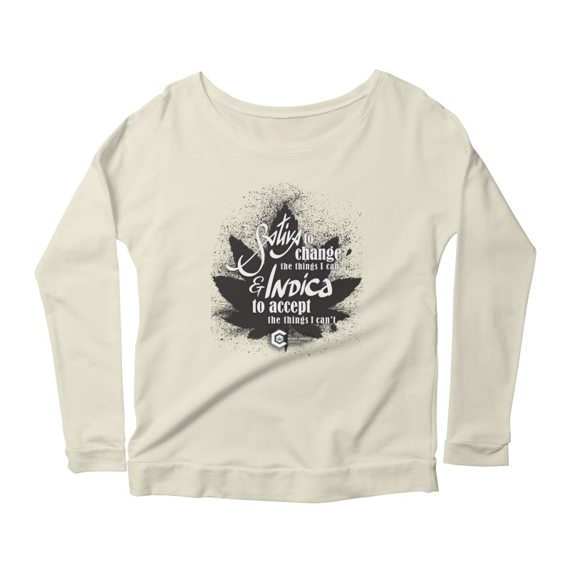 Sativa to change, Indica to accept Women's Scoop Neck Longsleeve T-Shirt by The Medical Cannabis Community