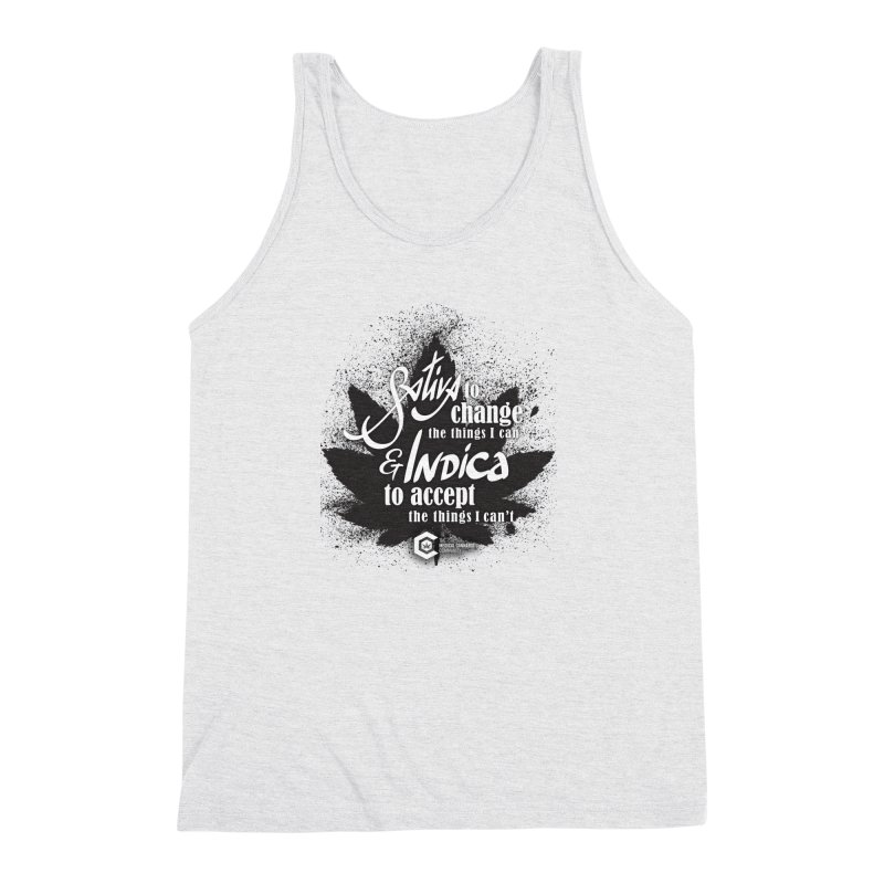 Sativa to change, Indica to accept Men's Triblend Tank by The Medical Cannabis Community