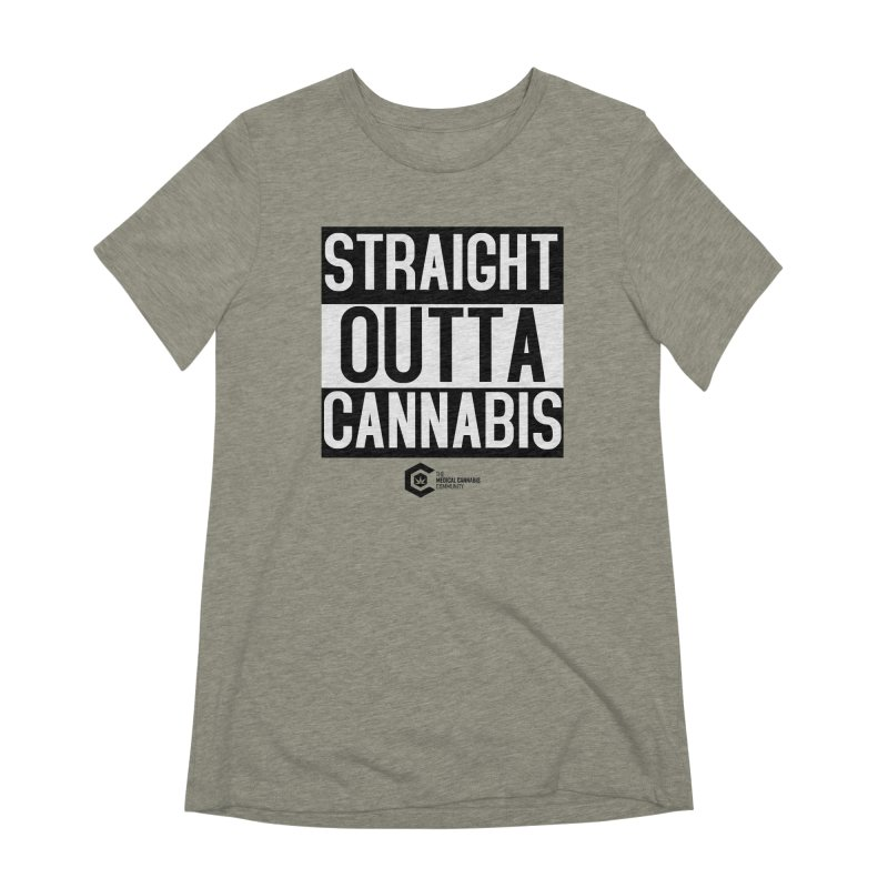 Straight Outta Cannabis Women's Extra Soft T-Shirt by The Medical Cannabis Community