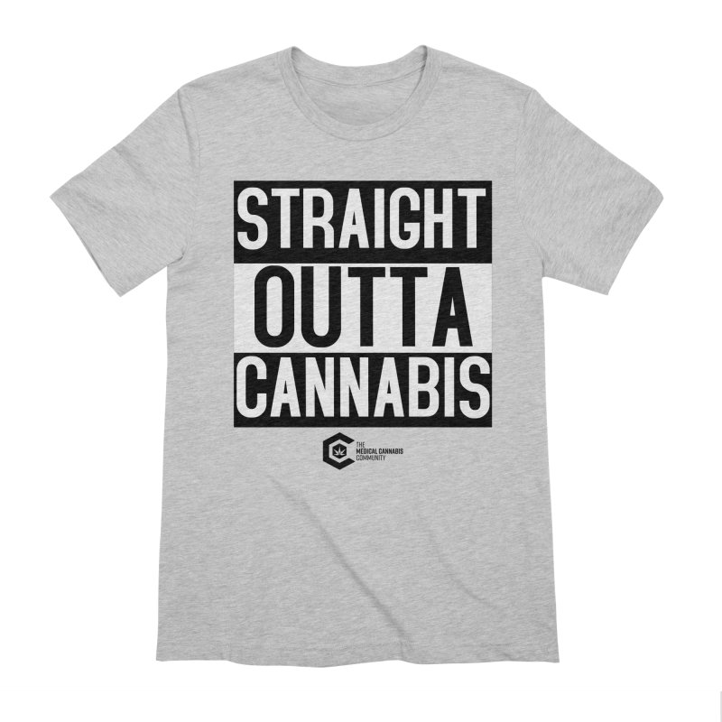 Straight Outta Cannabis Men's Extra Soft T-Shirt by The Medical Cannabis Community