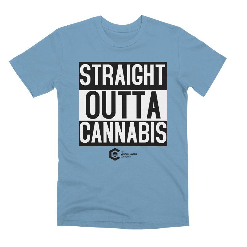 Straight Outta Cannabis Men's Premium T-Shirt by The Medical Cannabis Community