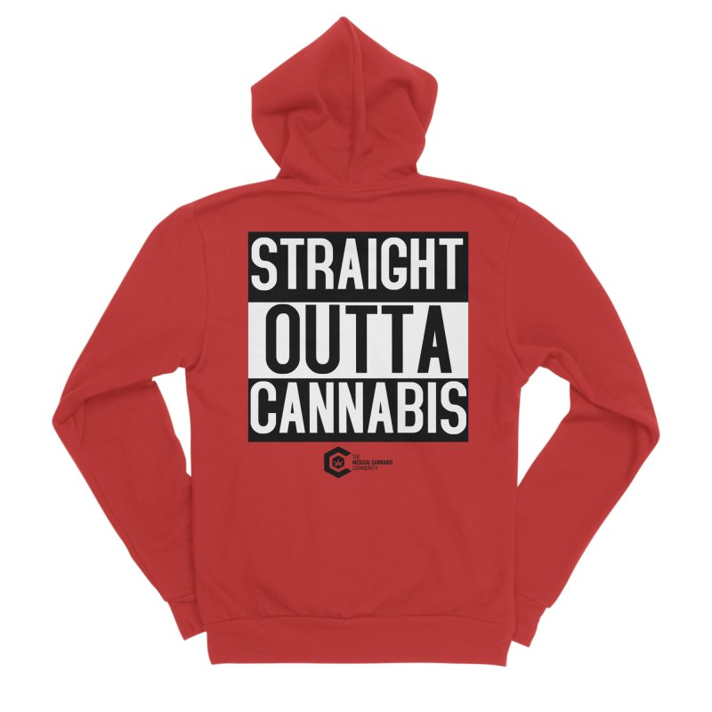 Straight Outta Cannabis Women's Sponge Fleece Zip-Up Hoody by The Medical Cannabis Community