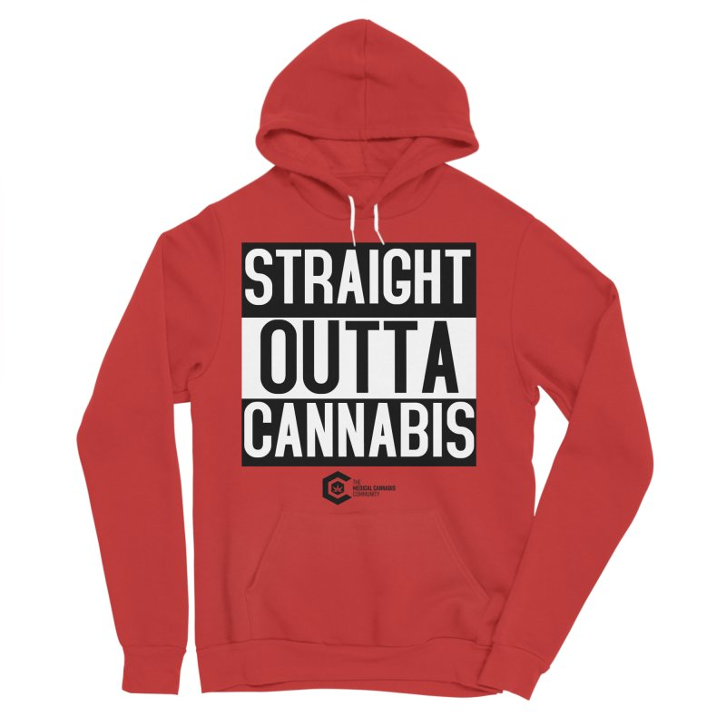 Straight Outta Cannabis Men's Sponge Fleece Pullover Hoody by The Medical Cannabis Community